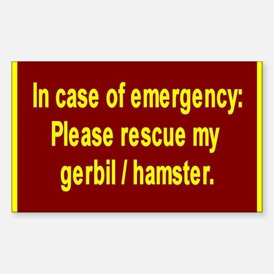 Save Gerbil/Hamster Rectangle Decal