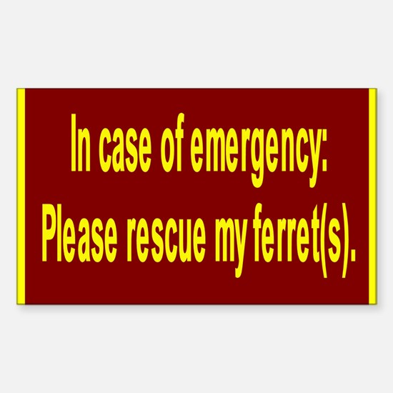 Save Ferret Rectangle Decal