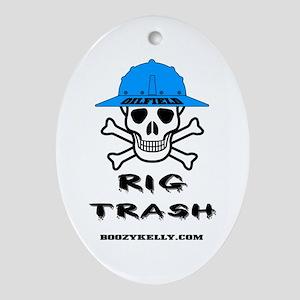 Oilfield Rig Trash Oval Ornament Oil Rig Gift