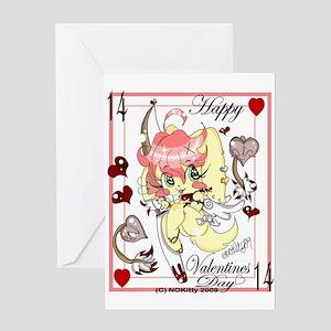 Valentine's Day Usagi Archer Greeting Card
