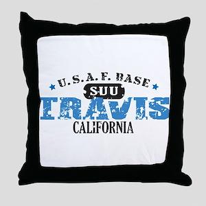 Travis Air Force Base Throw Pillow
