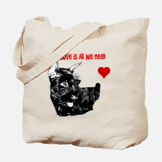 schnauzer love is all you need Tote Bag