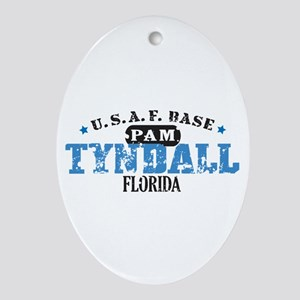 Tyndall Air Force Base Oval Ornament