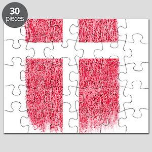 Danish Flag Shirt Denmark Flag T shirt Grun Puzzle