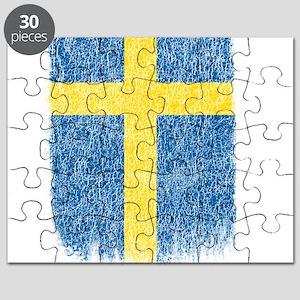 Swedish Flag Shirt Sweden Flag T shirt Grun Puzzle