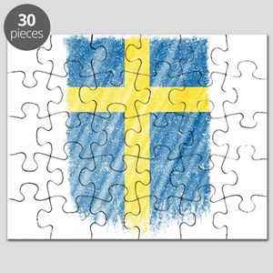 Swedish Flag Shirt Sweden Flag T shirt Wavy Puzzle