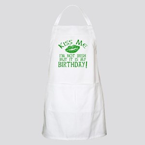 Kiss Me March 17 Birthday Apron