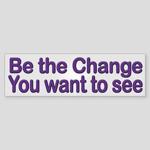 Be Change Ghandi Quote Bumper Sticker