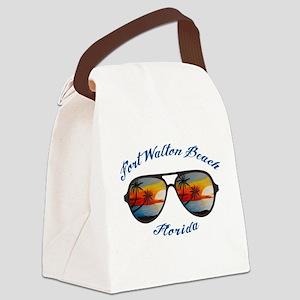 Florida - Fort Walton Beach Canvas Lunch Bag