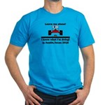 Leave me alone I know Texas Men's Fitted T-Shirt (
