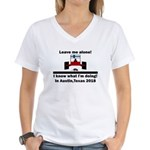 Leave me alone I know Texas Women's V-Neck T-Shirt