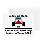 Leave me alone I know Texas Greeting Cards (Pk of