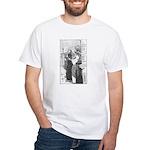 Street Musicians Sketch White T-Shirt