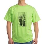 Street Musicians Sketch Green T-Shirt