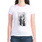 Street Musicians Sketch Jr. Ringer T-Shirt