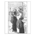 Street Musicians Sketch Small Poster