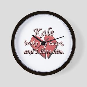 Kale broke my heart and I hate him Wall Clock