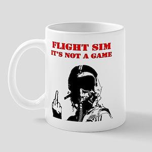 Flight Sim It's Not a Game R Mug