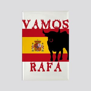 Vamos Rafa Tennis Rectangle Magnet