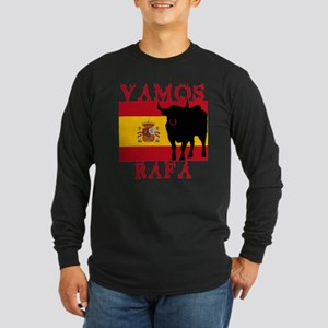 Vamos Rafa Tennis Long Sleeve Dark T-Shirt