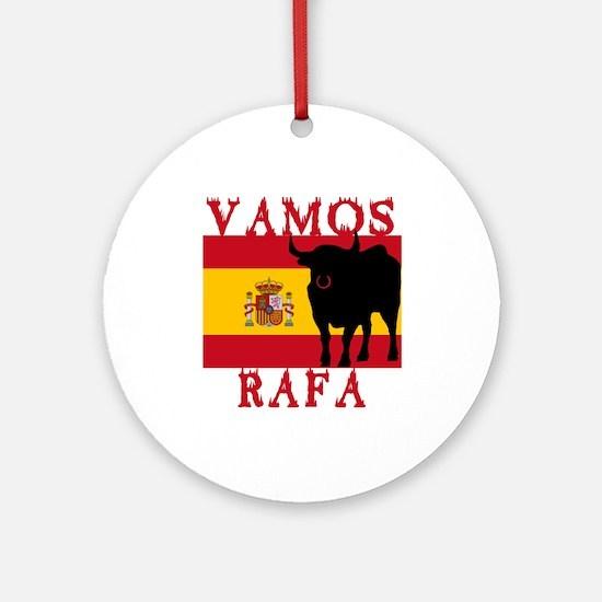 Vamos Rafa Tennis Ornament (Round)