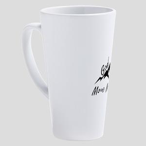 God Can Move Mountains 17 oz Latte Mug