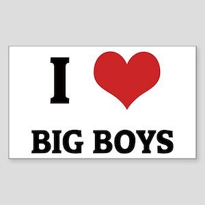 I Love Big Boys Rectangle Sticker