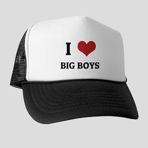I Love Big Boys Trucker Hat