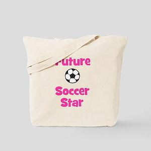 Future Soccer Star (pink) Tote Bag
