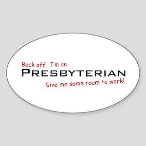 I'm a Presbyterian Oval Sticker