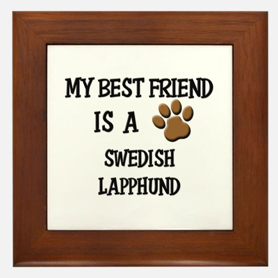 My best friend is a SWEDISH LAPPHUND Framed Tile