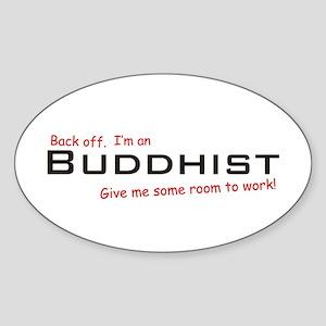 I'm a Buddhist Oval Sticker