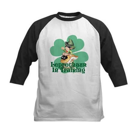 Leprechaun In Training Kids Baseball Jersey