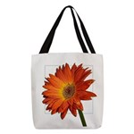 Flower Polyester Tote Bag