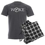 Woke TrWhite 5x2 Men's Charcoal Pajamas
