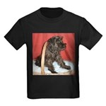Black Miniature Schnauzer Kids Dark T-Shirt