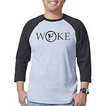 Woke TrBlack 5x2 Mens Baseball Tee