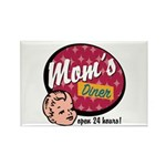 Mom's Diner Rectangle Magnet