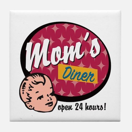 Mom's Diner Tile Coaster