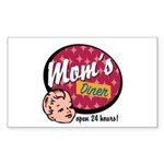 Mom's Diner Rectangle Sticker