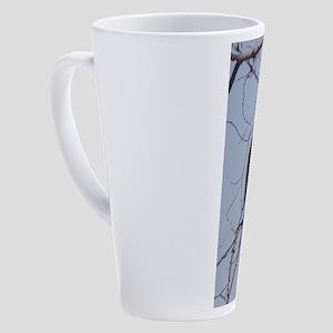 Preening Bluebird 17 oz Latte Mug