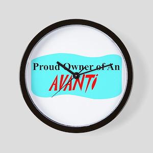 """""""Proud Avanti Owner"""" Wall Clock"""