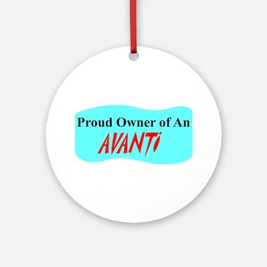 """Proud Avanti Owner"" Ornament (Round)"