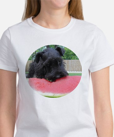 Black Miniature Schnauzer Women's T-Shirt