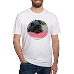 Black Miniature Schnauzer Fitted T-Shirt