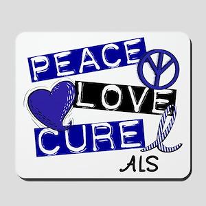 PEACE LOVE CURE ALS (L1) Mousepad