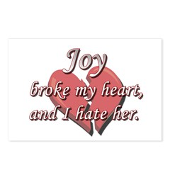 Joy broke my heart and I hate her Postcards (Packa