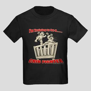 Training to be a Crib Fighter Kids Dark T-Shirt