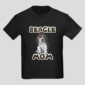 Beagle Mom Kids Dark T-Shirt