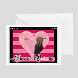 Scream Valentine Greeting Card